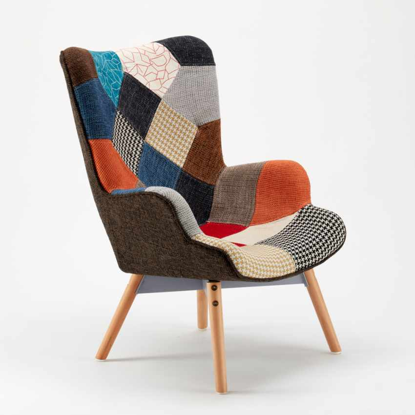 Sofa Chair Patchwork Scandinavian Padded Living Offices PATCHY - esterno