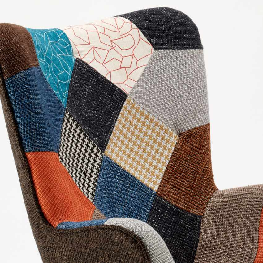 Sofa Chair Patchwork Scandinavian Padded Living Offices PATCHY - foto