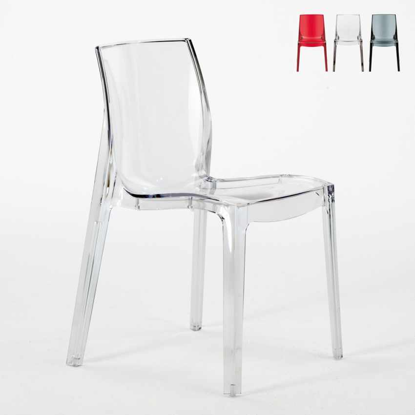 Design chair in transparent polycarbonate for the kitchen for Occasioni design