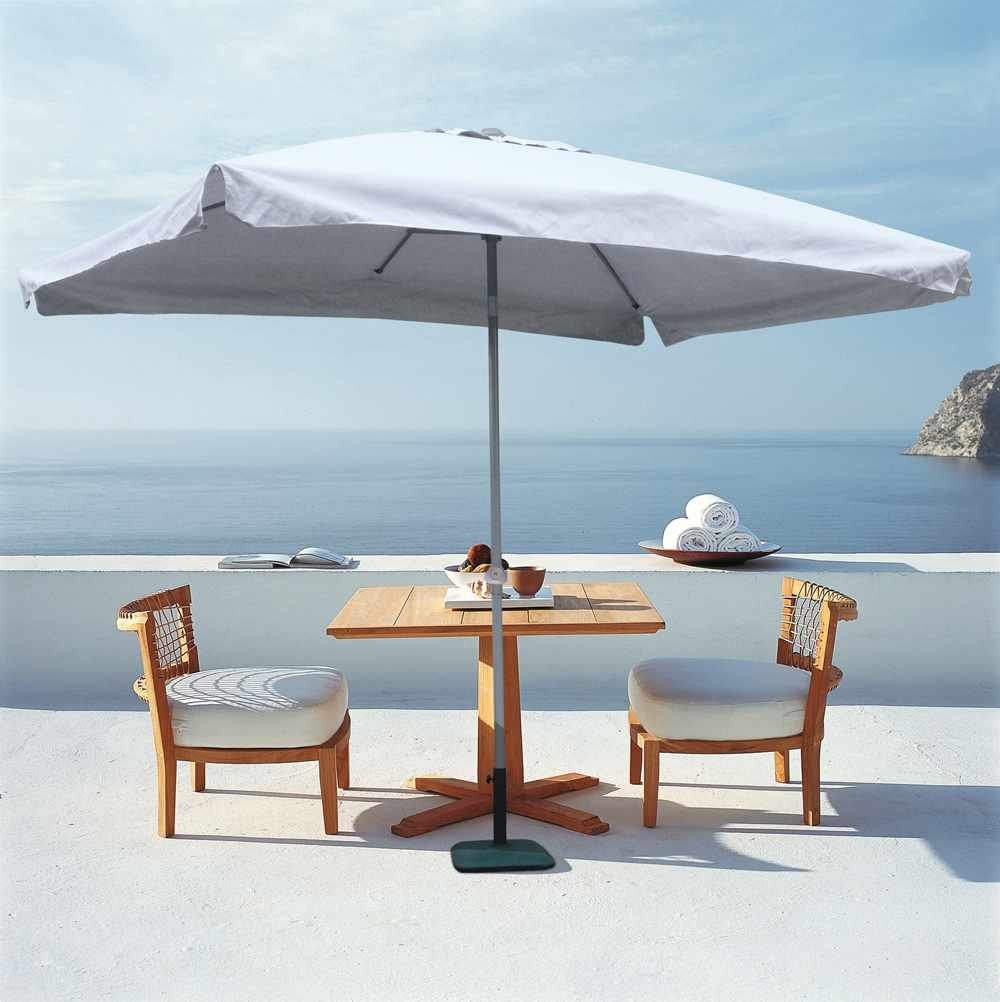 Eden 3x2m Rectangular Garden Parasol With Aluminium Pole And