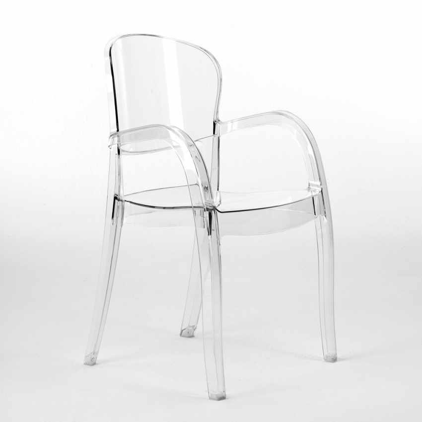 S6612TR   Design Chair In Transparent Polycarbonate Made In Italy Home  Interiors JOKER   Fronte ...