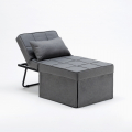 Pouf folding bed armchair in fabric SWEET RELAX - nuovo