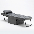 Pouf folding bed armchair in fabric SWEET RELAX - scontato
