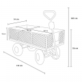 Garden trolley for transporting wood grass 400kg SHIRE - Angebot