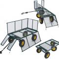 Garden trolley for transporting wood grass 400kg SHIRE - Verkauf