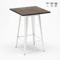 WELDED High Table for Stools Tolix Industrial Style Wood Steel 60x60