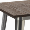 WELDED High Table for Stools Tolix Industrial Style Wood Steel 60x60 - vendita