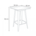 WELDED High Table for Stools Tolix Industrial Style Wood Steel 60x60 - esterno