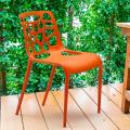 Polypropylene Design Chair Dining Outdoor Indoor Restaurants GELATERIA - Verkauf