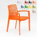 Polypropylene Design Chair with Armrests for Kitchens Bar Cafè GRUVYER ARM