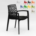 Polypropylene Design Chair with Armrests for Kitchens Bar Cafè GRUVYER ARM - Rabatt
