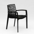 Polypropylene Design Chair with Armrests for Kitchens Bar Cafè GRUVYER ARM - Detail