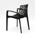 Polypropylene Design Chair with Armrests for Kitchens Bar Cafè GRUVYER ARM - Bilder