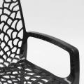 Polypropylene Design Chair with Armrests for Kitchens Bar Cafè GRUVYER ARM - am besten