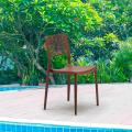Stackable Dining Chair for Kitchen Garden Bistro Polypropylene CROSS - Bild