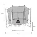 Trampoline Elastic Carpet 185cm Safety net and padding KANGAROO S - foto