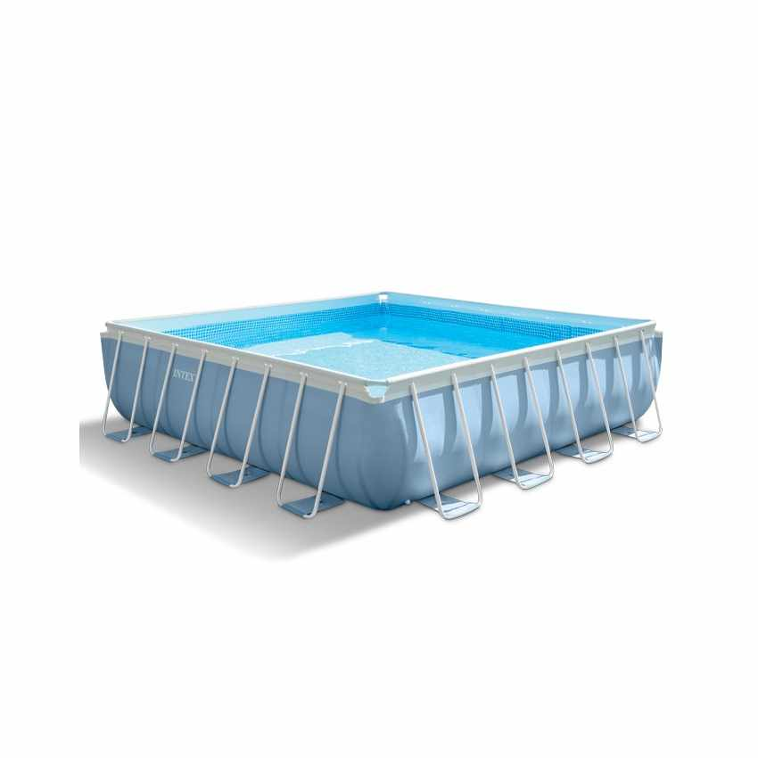 Above ground pool square 427x427cm intex 28764 prism frame - Intex prism frame ...