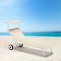 ALABAMA Beach & Patio Sun Lounger With Built-in Wheels - foto
