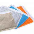 2 Beach & Fitness Gym Towels Microfiber with Pockets - immagine