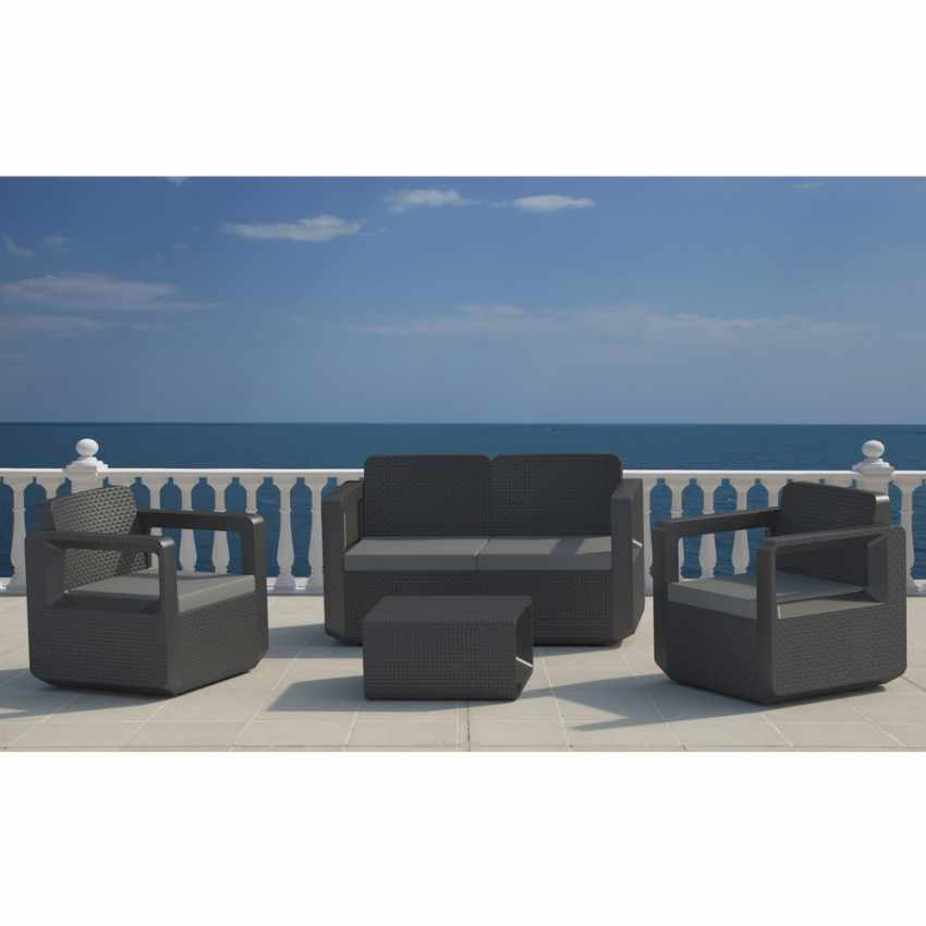 polyrattan outdoor garden furniture set sofa chairs table venus. Black Bedroom Furniture Sets. Home Design Ideas