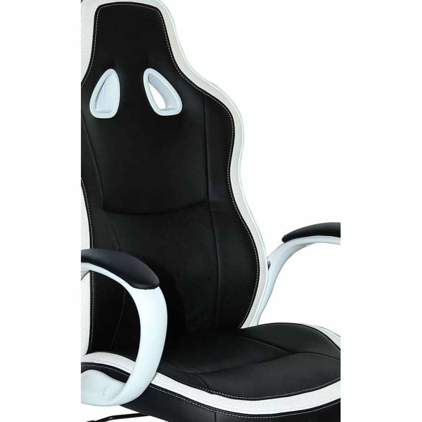 SU035RAC - Racing Office Chair Ergonomic Design for Working Gaming in Faux Leather SUPER SPORT - trasparente