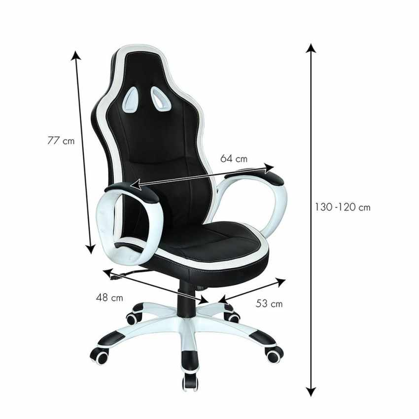 SU035RAC - Racing Office Chair Ergonomic Design for Working Gaming in Faux Leather SUPER SPORT - economico