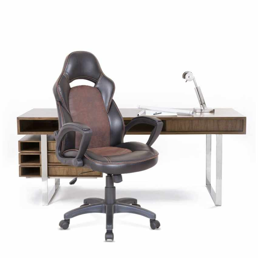 SU001RAC - Racing Office Chair with Ergonomic Design PRO - giallo