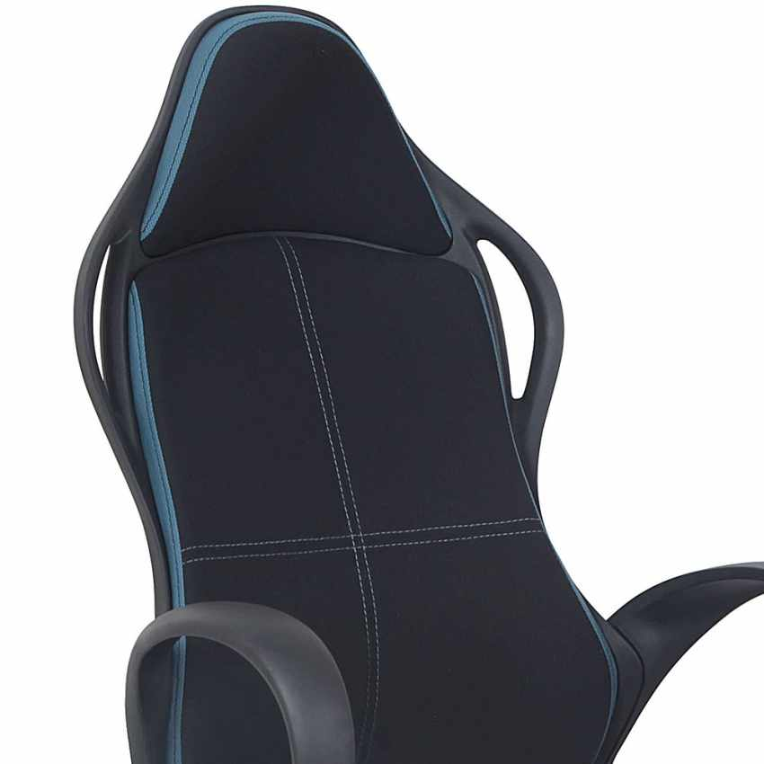 Racing Design Office Chair in Faux Leather for Gaming LOS ANGELES - dettaglio