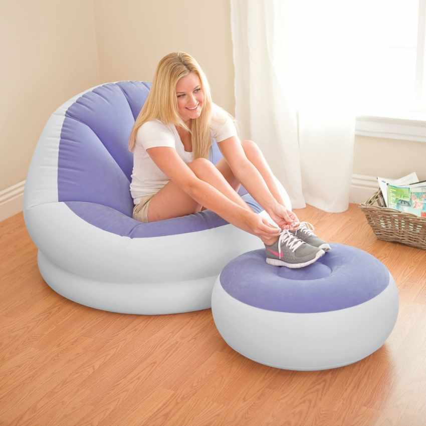Inflatable Furniture Intex: Inflatable Chair With Footstool Intex 68572