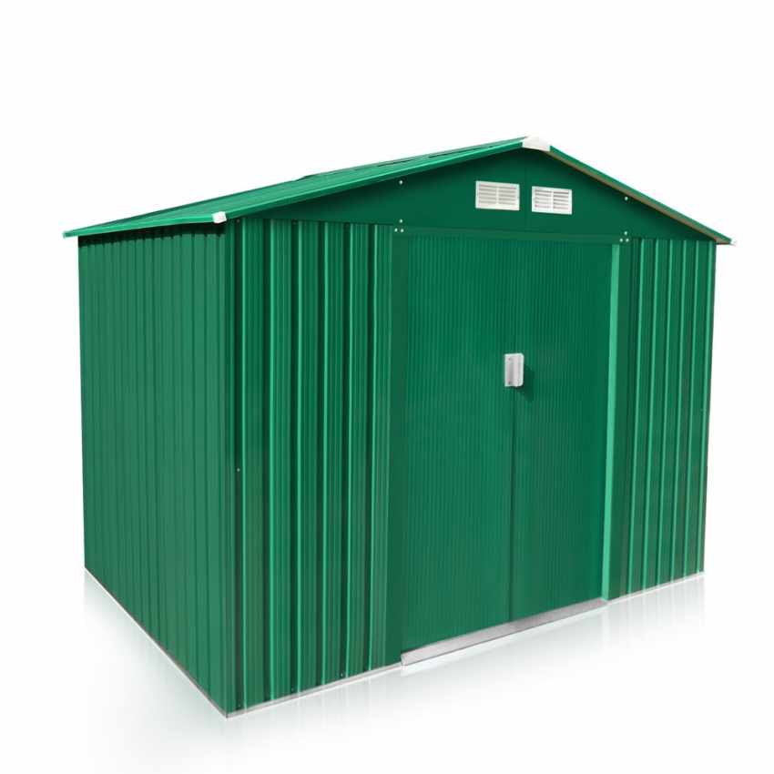Garden Storage Shed In Green Galvanized Iron Sheet