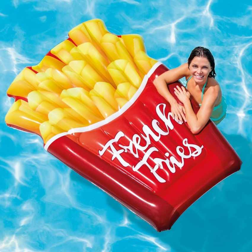 Inflatable Floating Mattress Intex 58775 French Fries Mat