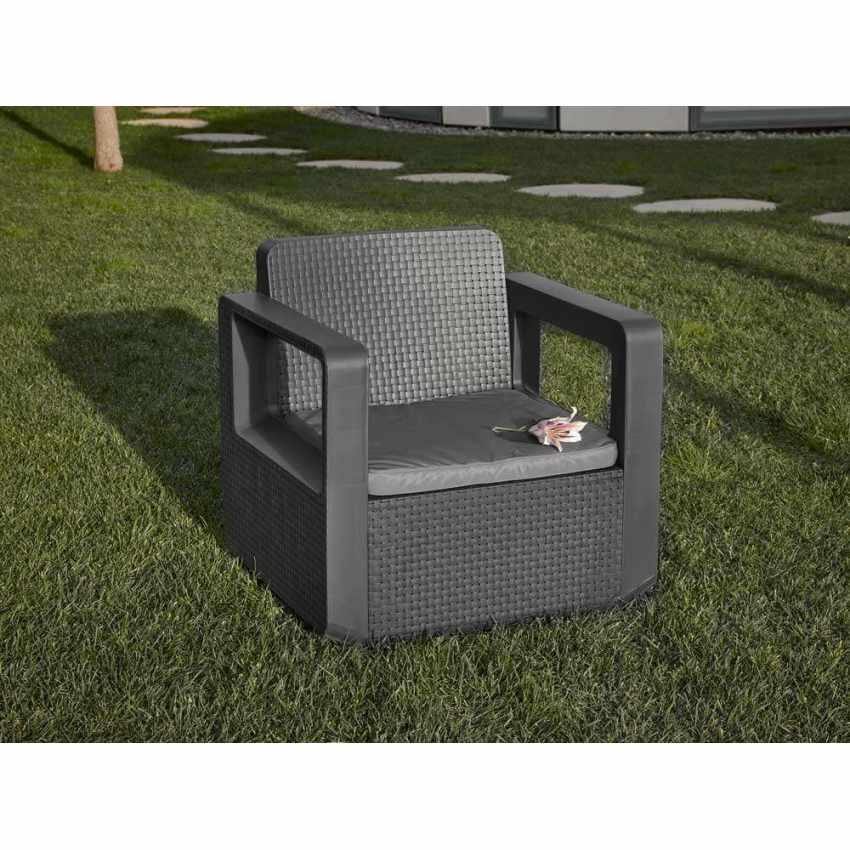 Polyrattan outdoor garden furniture set sofa chairs table VENUS - venta