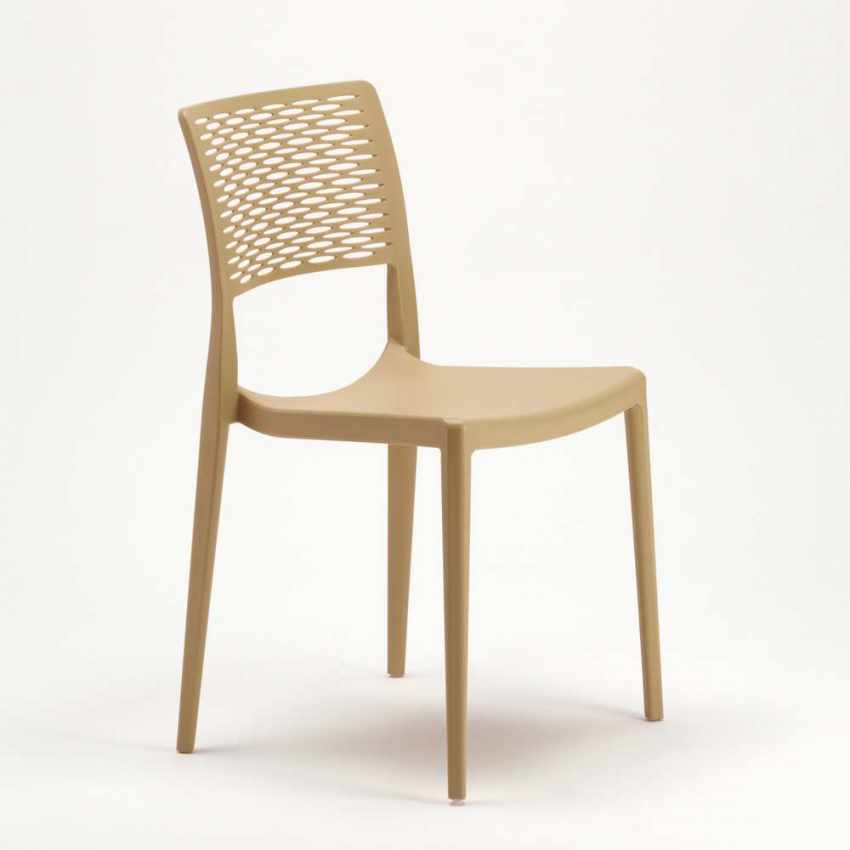 Stacking Chair for Kitchens and Gardens Weatherproof Anti UV CROSS - nuevo