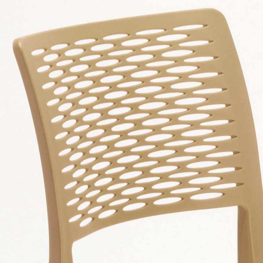 Stacking Chair for Kitchens and Gardens Weatherproof Anti UV CROSS - interior