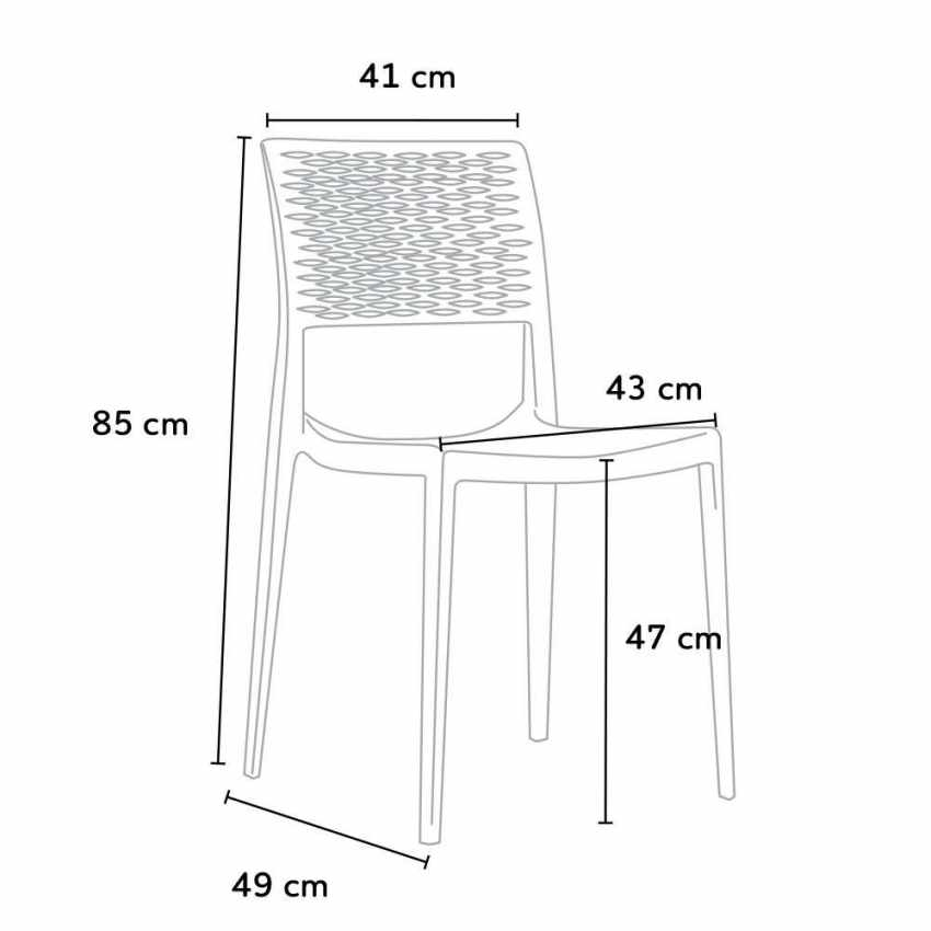 Stacking Chair for Kitchens and Gardens Weatherproof Anti UV CROSS - mobiliario