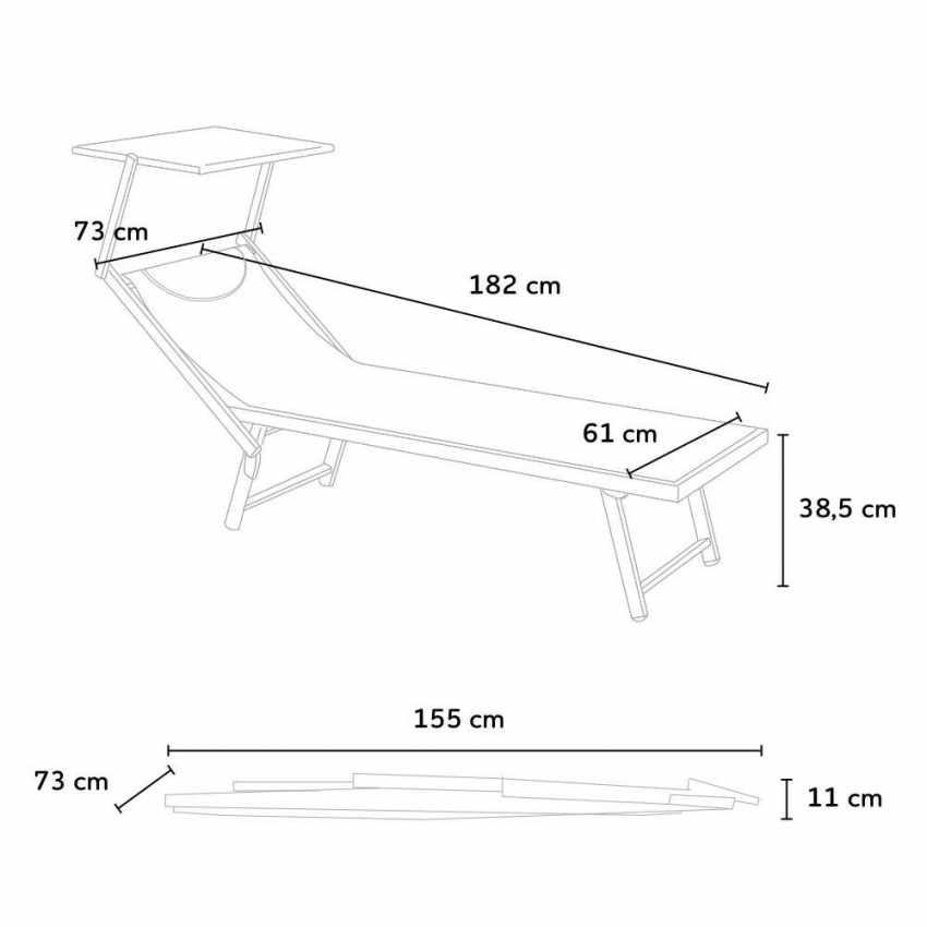 SA800TEXEU - Professional Sun Loungers in Alluminium Garden Beach SANTORINI EUROPE EDITION - offerta