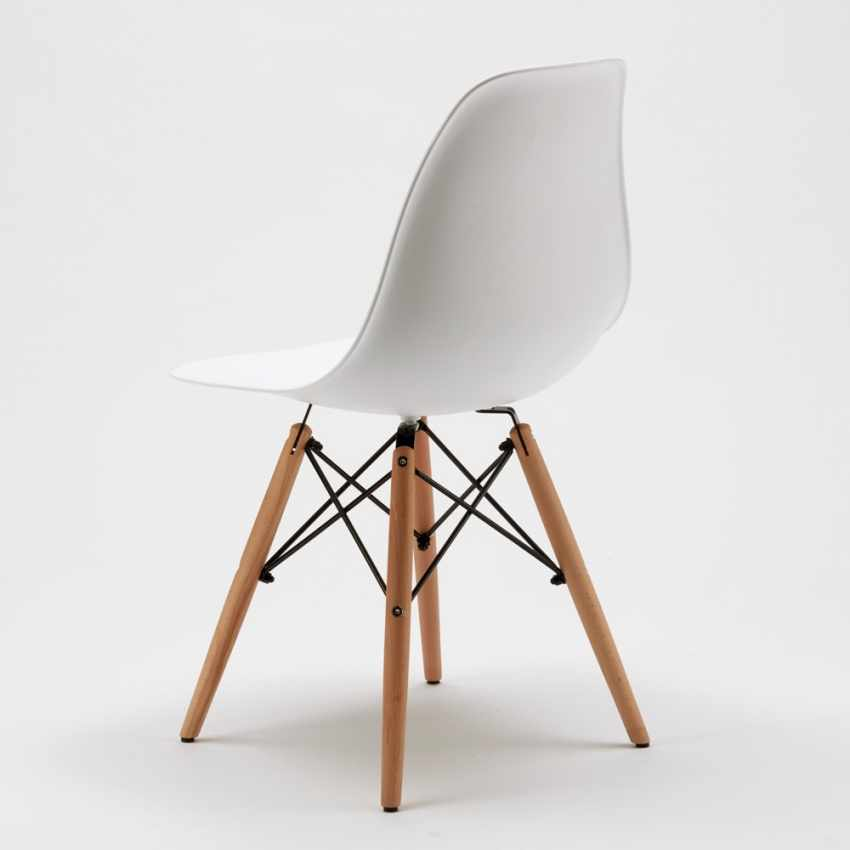 DSW WOODEN Eames Design Chair for Kitchens Bars Waiting Rooms - migliore