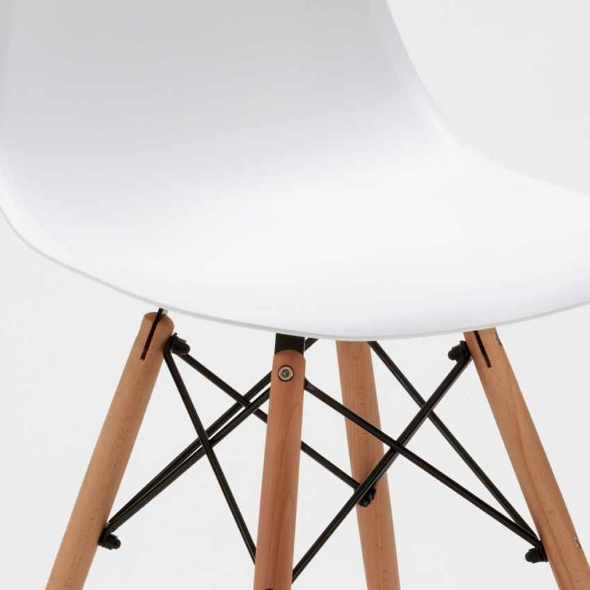 DSW WOODEN Eames Design Chair for Kitchens Bars Waiting Rooms - interno