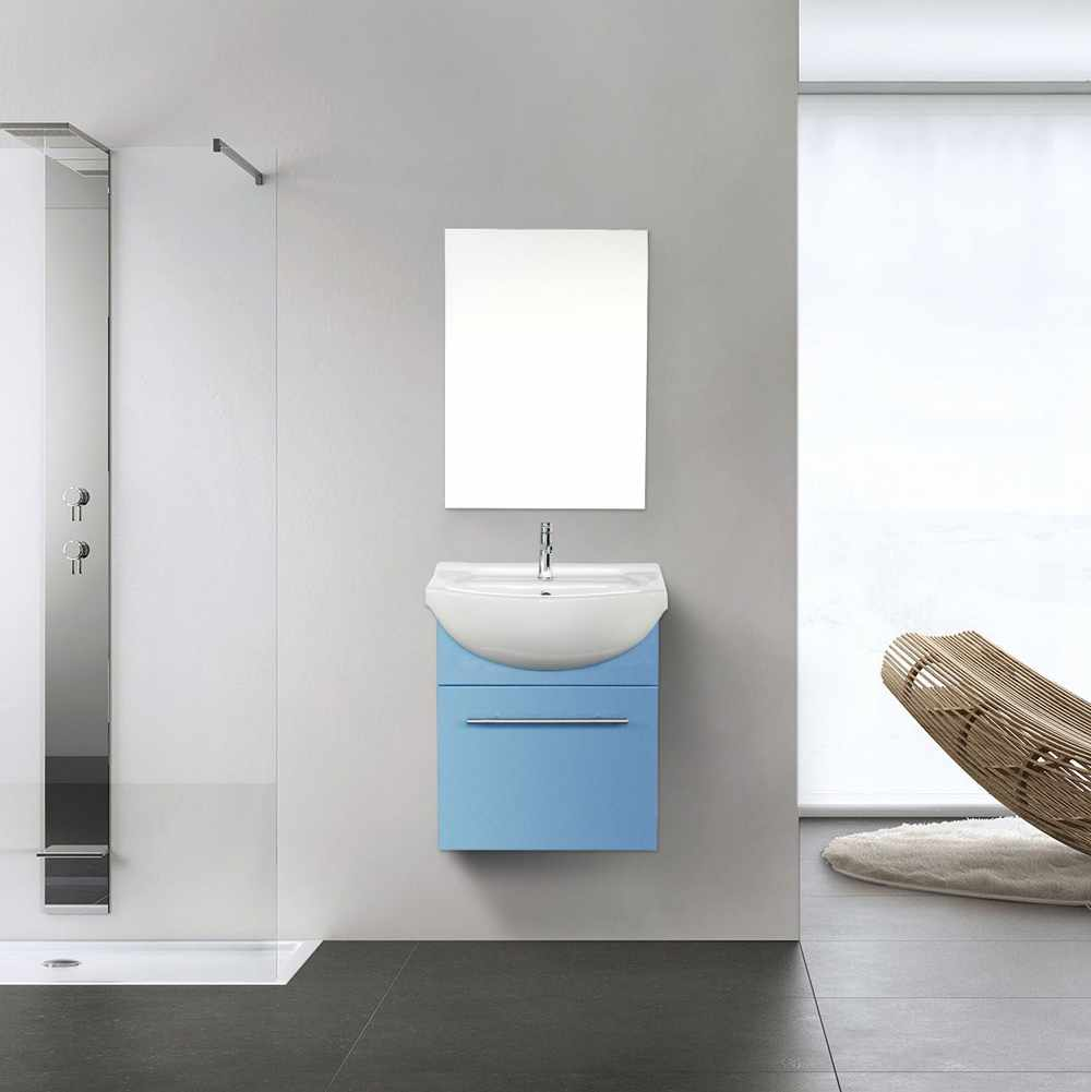 Mirror Cabinet Sink In Lacquered Ceramic