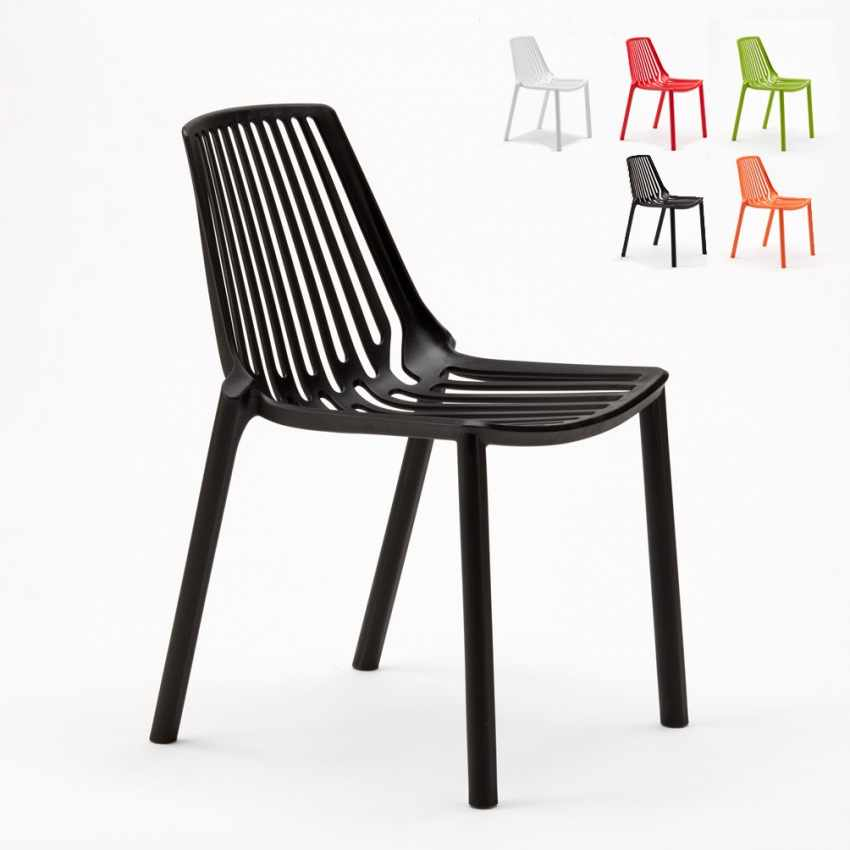 Stacking Chair for Home Interiors and Restaurants Indoors and Outdoors LINE - exterior