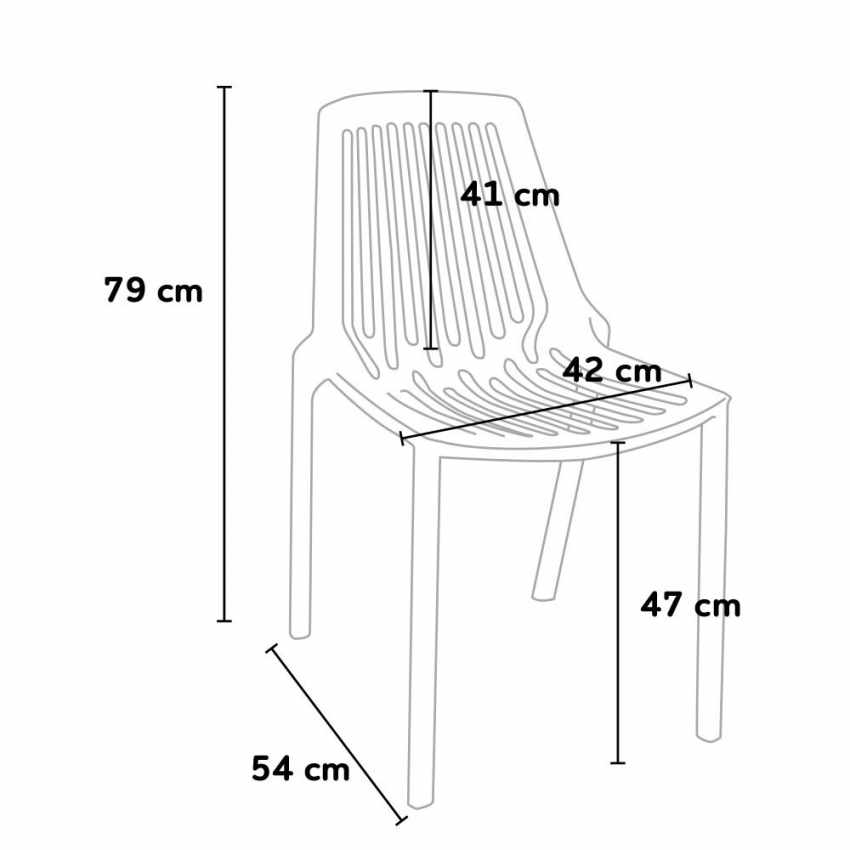 Stacking Chair for Home Interiors and Restaurants Indoors and Outdoors LINE - fotos