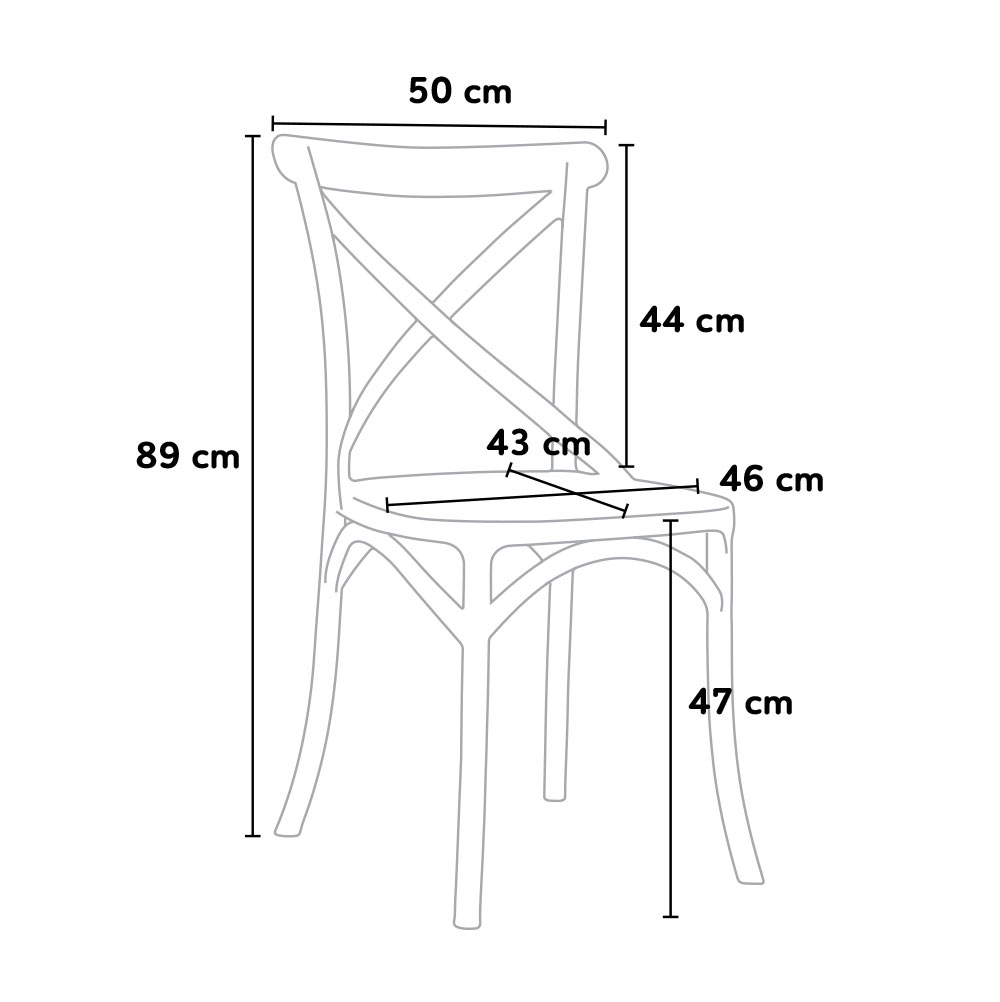 Dimensioni Sedie Da Cucina.Design Chair With Vintage Style In Polypropylene For Home