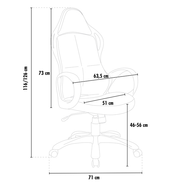 PRO faux leather ergonomic sports racing chair LOS ANGELES