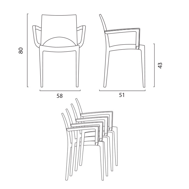 Paris chair by Grand Soleil